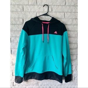 Black and Turquoise Adidas Hoodie